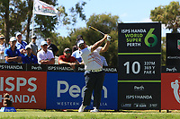 Kiradech Aphibarnrat (THA) in action on the 10th during Round 1 of the ISPS Handa World Super 6 Perth at Lake Karrinyup Country Club on the Thursday 8th February 2018.<br /> Picture:  Thos Caffrey / www.golffile.ie<br /> <br /> All photo usage must carry mandatory copyright credit (&copy; Golffile | Thos Caffrey)