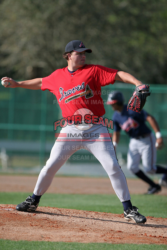 Atlanta Braves minor leaguer Dan Curtis during Spring Training at Disney's Wide World of Sports on March 15, 2007 in Orlando, Florida.  (Mike Janes/Four Seam Images)