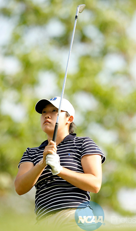 26 MAY 2006:  Jennie Lee of Duke University tees off during the Division I Women's Golf Championship held at the Scarlet Course on the Ohio State University campus in Columbus, OH.  Lee placed second in the individual competition with an Even score.  Jamie Schwaberow/NCAA Photos