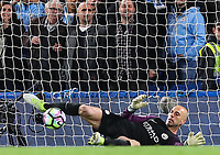 Willy Caballero of Manchester City saves from the spot during the Premier League match between Chelsea and Manchester City at Stamford Bridge on April 5th 2017 in London, England.<br /> Foto PHC Images / Panoramic / Insidefoto <br /> ITALY ONLY