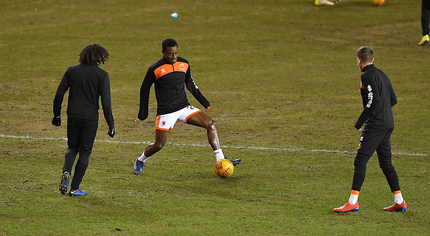 Blackpool players warm up<br /> <br /> Photographer Dave Howarth/CameraSport<br /> <br /> The EFL Sky Bet League One - Blackpool v Wycombe Wanderers - Tuesday 29th January 2019 - Bloomfield Road - Blackpool<br /> <br /> World Copyright © 2019 CameraSport. All rights reserved. 43 Linden Ave. Countesthorpe. Leicester. England. LE8 5PG - Tel: +44 (0) 116 277 4147 - admin@camerasport.com - www.camerasport.com