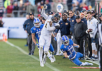FT. WORTH, TX - December 29, 2015: The 2015 Lockheed Martin Armed Forces Bowl. The Cal Bears vs the Air Force Falcons at Amon G. Carter Stadium. Final score Cal Bears 55, Air Force Falcons 36.