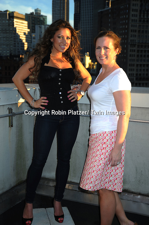 "Martha Byrne and Jacqueline Madden, who is on the vh1 reality show ""You Are Cut Off, "" at her video shoot for her single ""Can't Let Go"" on July 25, 2010 in New York City. Martha Byrne is her producer."