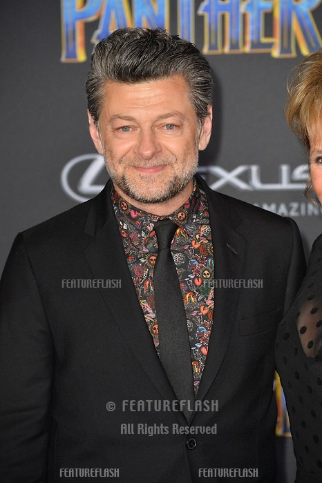 Andy Serkis at the world premiere for &quot;Black Panther&quot; at the Dolby Theatre, Hollywood, USA 29 Jan. 2018<br /> Picture: Paul Smith/Featureflash/SilverHub 0208 004 5359 sales@silverhubmedia.com