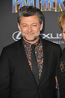 "Andy Serkis at the world premiere for ""Black Panther"" at the Dolby Theatre, Hollywood, USA 29 Jan. 2018<br /> Picture: Paul Smith/Featureflash/SilverHub 0208 004 5359 sales@silverhubmedia.com"