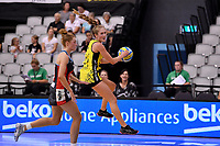Central Manawa&rsquo;s Maddy Gordon in action during the Beko Netball League - Central Manawa v Hellers Mainland at Fly Palmy Arena, Palmerston North, New Zealand on Sunday 10 March 2019. <br /> Photo by Masanori Udagawa. <br /> www.photowellington.photoshelter.com