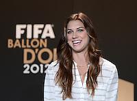 Fussball International  FIFA Ballon d Or / Weltfussballerin 2012    Pressekonferenz   07.01.2013 Alex Morgan (USA)