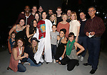 MaryAnn Hu, Jake Gyllenhaal, Annaleigh Ashford with the cast during the Actors' Equity opening night Gypsy Robe Ceremony honoring  MaryAnn Hu for ''Sunday in the Park with George' at the Hudson Theatre on February 23, 2017 in New York City.