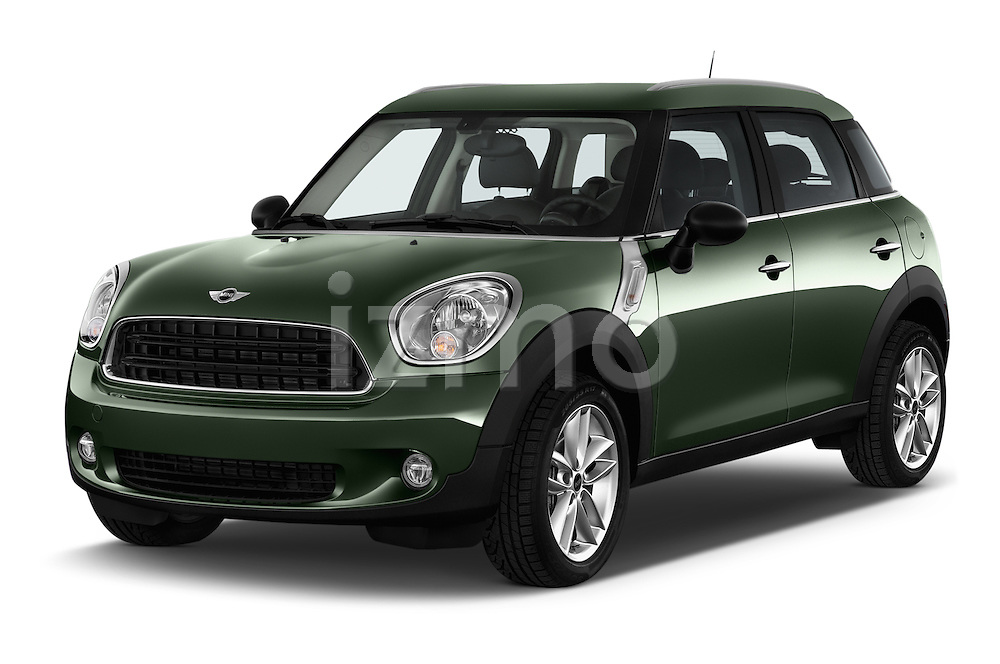 2016 MINI Countryman One 5 Door Hatchback Angular Front stock photos of front three quarter view