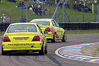 Round 3 of the 2002 British Touring Car Championship. #62 Spencer Marsh (GBR) & #63 Mark Thomas (GBR). Beacon Motorsport. Honda Accord.