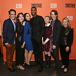 """Steven Levenson, Odessa Young, Lauren Patten, J. Alphonse Nicholson, Tavi Gevinson, Mike Faist and Carole Rothman attend the After Party for the Second Stage Production of """"Days Of Rage"""" at Churrascaria Platforma on October 30, 2018 in New York City."""