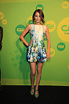 "Aimee Teegarden is now on CW's Star-Crossed"" as ""Emery at the CW Upfront on May 16, 2013 at London Hotel, New York City, New York. (Photo by Sue Coflin/Max Photos)"