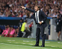 Coach of Chelsea Antonio Conte during the UEFA Champions League group C match between Atletico Madrid and Chelsea played at the Wanda Metropolitano Stadium in Madrid, on September 27th 2017.