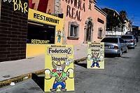 Mexican restaurant Rivera real, Federicos bar, Mexican bar or canteen, beer sale, beer tanks in Puerto Peñasco, Sonora. Tourist destination, Mexico.<br /> <br /> Restaurante mexicano Rivera real, Federicos bar, Bar o cantina mexicana, venta de cerveza, Tarrros de Cerveza en Puerto Peñasco, Sonora.  Destino turistico , Mexico.
