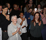 Michael Xavier, Glenn Close and cast attend the Actors' Equity Opening Night Gypsy Robe Ceremony for 'Sunset Boulevard'  honoring Matt Wall at the Palace Theatre Theatre on February 9, 2017 in New York City.