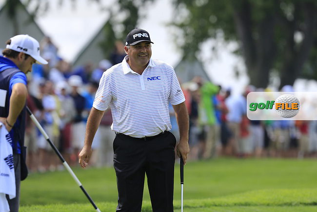 Angel Cabrera (ARG) putts on the 3rd green during Friday's Round 1 of the 2016 U.S. Open Championship held at Oakmont Country Club, Oakmont, Pittsburgh, Pennsylvania, United States of America. 17th June 2016.<br /> Picture: Eoin Clarke | Golffile<br /> <br /> <br /> All photos usage must carry mandatory copyright credit (&copy; Golffile | Eoin Clarke)