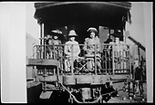 Four ladies sitting on back of business car B-20, &quot;Edna&quot; at Telluride.  Same or better image at RD149-069.<br /> RGS  Telluride, CO  Taken by Wolfinger, Clemente D. - ca. 1914