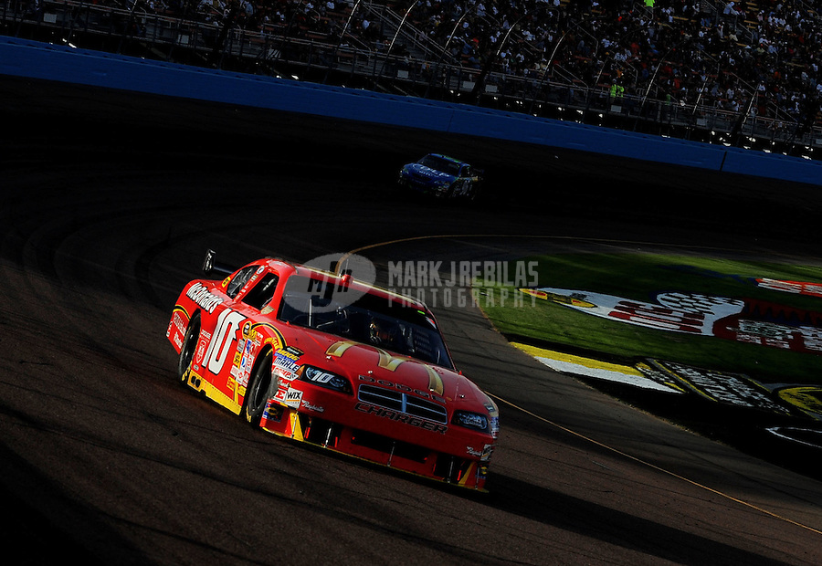 Nov. 9, 2008; Avondale, AZ, USA; NASCAR Sprint Cup Series driver A.J. Allmendinger during the Checker Auto Parts 500 at Phoenix International Raceway. Mandatory Credit: Mark J. Rebilas-