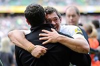 Alex Goode of Saracens shows his delight after winning the Aviva Premiership Rugby Final between Bath Rugby and Saracens at Twickenham Stadium on Saturday 30th May 2015 (Photo by Rob Munro)