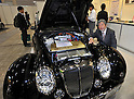 EVTGMY, October 12, 2011, Yokohama, Japan - Mitsuoka Motors' Himiko, a nostalgyc-looking car converted into an electric vehicle, is exhibited during Electric Vehicle Development Technology Exhibition 2011 in Yokohama, south of Tokyo, on Wednesday, October 12, 2011. EVEX covers all EV-related processes from materials and design to completion. The trade show also provides rare opportunities to see and experience a trial ride the lates EVs. (Photo by Natsuki Sakai/AFLO) [3615] -mis-