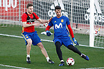 Spain's Asier Illarramendi (l) and Sergio Rico during training session. March 20,2017.(ALTERPHOTOS/Acero)