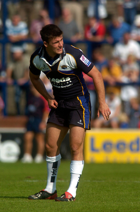 Photo. Glyn Thomas. .Leeds Tykes v Gloucester. .Zurich Premiership. 05/09/2004..Leeds' Chris Bell.