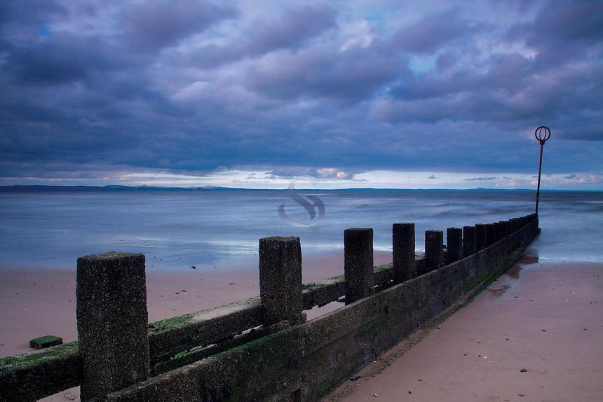 Groynes on Portobello Beach, Lothian