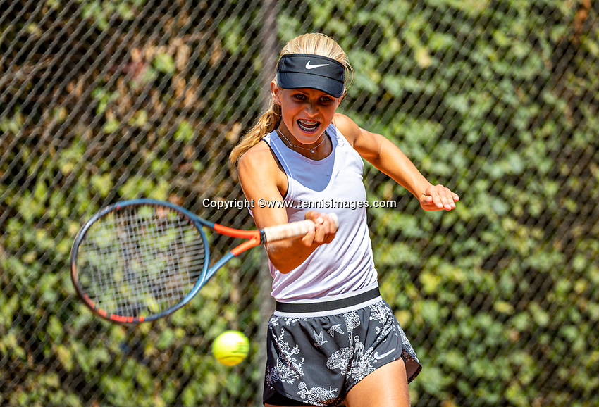Hilversum, Netherlands, Juli 29, 2019, Tulip Tennis center, National Junior Tennis Championships 12 and 14 years, NJK, Nina Kwakman(NED)<br /> Photo: Tennisimages/Henk Koster