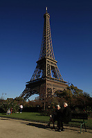 France, Paris, October 30, 2011..General view of the Eiffel tower in Paris October 30 , 2011. VIEWpress / Kena Betancur..Paris is today one of the world's leading business and cultural centres, and its influences in politics, education, entertainment, media, fashion, science, and the arts all contribute to its status as one of the world's major global cities. Media Reported.