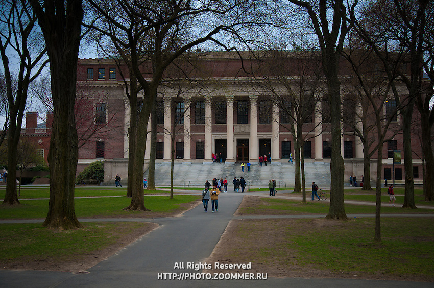 The Harry Elkins Widener Memorial Library, commonly known as Widener Library in Harvard Yard of the Harvard University