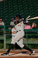 Calvin Anderson of the Bradenton Marauders during the game at Jackie Robinson Ballpark in Daytona Beach, Florida on August 3, 2010. Photo By Scott Jontes/Four Seam Images