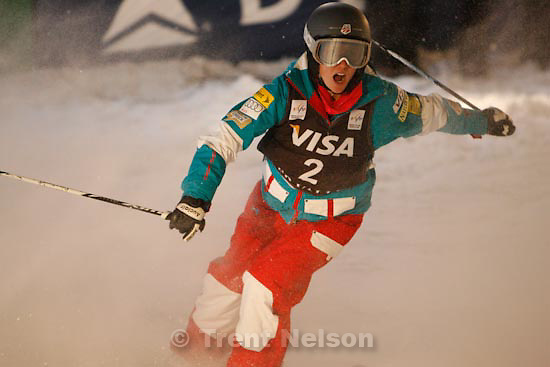Trent Nelson  |  The Salt Lake Tribune.Heather McPhie, USA, Moguls competition, Freestyle FIS World Cup at Deer Valley, Saturday, January 16, 2010.