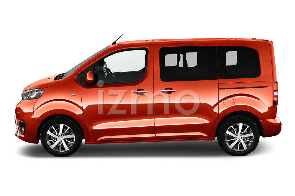 Car Driver side profile view of a 2018 Toyota Proace-Verso Viaggio 5 Door Minivan Side View