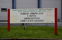 Pictured: Abergavenny Ambulance Station, Wales, UK. Tuesday 07 November 2017