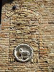Lamb and wall, San Gimignano, Siena-Tuscano, Italy