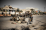 ALEPPO: August 3rd 2012:..Scars of war on Aleppo's streets. ..Ayman Oghanna for The Sunday Telegraph.