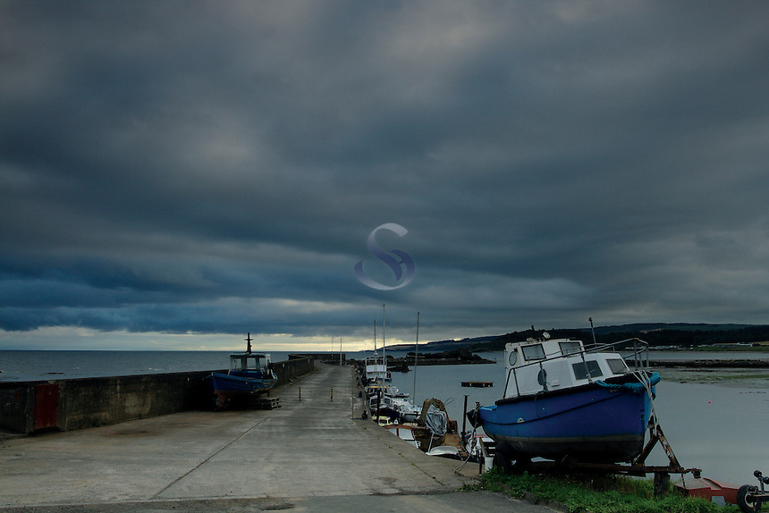 Dark Clouds over Maidens Harbour, Maidens, Ayrshire<br /> <br /> Copyright www.scottishhorizons.co.uk/Keith Fergus 2011 All Rights Reserved