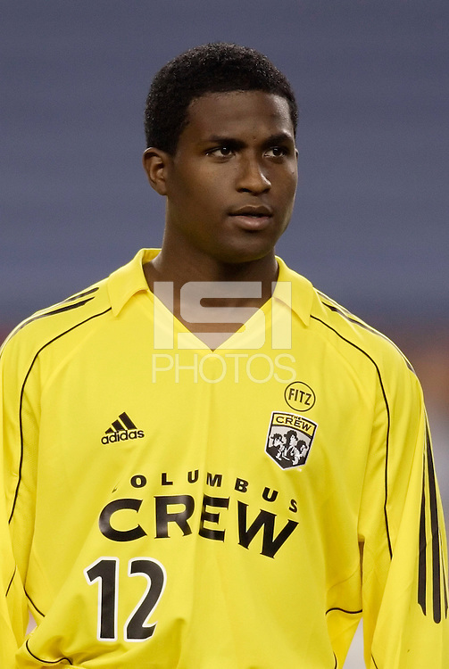 The Columbus Crew's Edson Buddle. The New England Revolution defeated the Columbus Crew 3 to 0 during the Revolution's MLS home opener at Gillette Stadium, Foxboro. MA, on Saturday April 9, 2005.