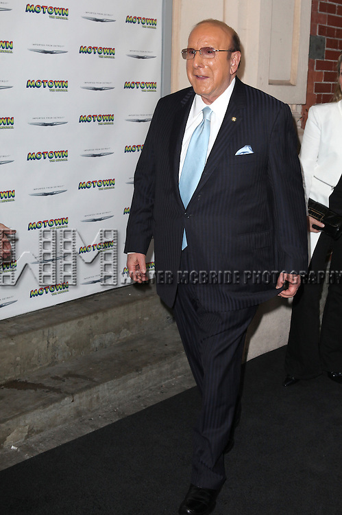 Clive Davis attending the Broadway World Premiere Launch for 'Motown: The Musical' at the Nederlander in New York. Sept. 27, 2012