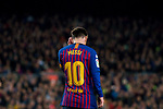 Lionel Andres Messi of FC Barcelona reacts during the La Liga 2018-19 match between FC Barcelona and RC Celta de Vigo at Camp Nou on 22 December 2018 in Barcelona, Spain. Photo by Vicens Gimenez / Power Sport Images
