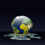 Illustrative image of melting earth representing environmental damage