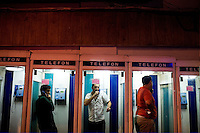 ISTANBUL - MAY 26, 2007:   Telephone booths in Istanbul, Turkey. Photo by Landon Nordeman.