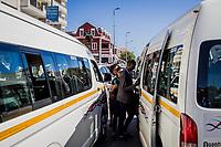 Taxi-Kunden in Kapstadt, Südafrika
