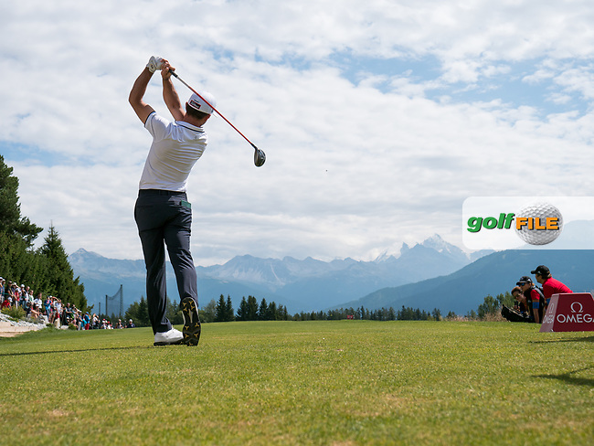 Wade Ormsby (AUS) in action on the 7th hole during final round at the Omega European Masters, Golf Club Crans-sur-Sierre, Crans-Montana, Valais, Switzerland. 01/09/19.<br /> Picture Stefano DiMaria / Golffile.ie<br /> <br /> All photo usage must carry mandatory copyright credit (© Golffile | Stefano DiMaria)