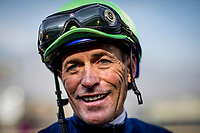 ARCADIA, CA - DECEMBER 26: Jockey Gary Stevens at Santa Anita Park on December 26, 2017 in Arcadia, California. (Photo by Alex Evers/Eclipse Sportswire/Getty Images)