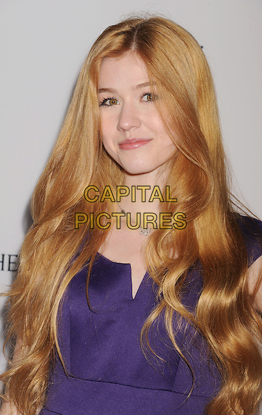 "Katherine McNamara.""The Impossible"" Los Angeles Premiere held at Arclight Cinemas, Hollywood, California, USA..December 10th, 2012.headshot portrait purple  .CAP/ROT/TM.©Tony Michaels/Roth Stock/Capital Pictures"
