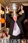 Celebrating at the Brosna GAA Victory Social in the Devon Inn Hotel, Templeglantine on Monday night was Mike Brosnan, Brosna with the Sam Maguire.