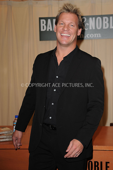 WWW.ACEPIXS.COM . . . . . .March 31, 2011...New York City... Chris Jericho signs books at Barnes and Noble Fifth Avenue on  March 31, 2011 in New York City....Please byline: KRISTIN CALLAHAN - ACEPIXS.COM.. . . . . . ..Ace Pictures, Inc: ..tel: (212) 243 8787 or (646) 769 0430..e-mail: info@acepixs.com..web: http://www.acepixs.com .