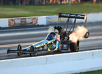 Jun 9, 2017; Englishtown , NJ, USA; NHRA top fuel driver Dom Lagana during qualifying for the Summernationals at Old Bridge Township Raceway Park. Mandatory Credit: Mark J. Rebilas-USA TODAY Sports