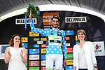 Brice Feillu (FRA) Fortuneo-Samsic wears the mountains Polka Dot Jersey at the end of Stage 2 of the 2018 Criterium du Dauphine 2018 running 181km from Montbrison to Belleville, France. 5th June 2018.<br /> Picture: ASO/Alex Broadway | Cyclefile<br /> <br /> <br /> All photos usage must carry mandatory copyright credit (&copy; Cyclefile | ASO/Alex Broadway)